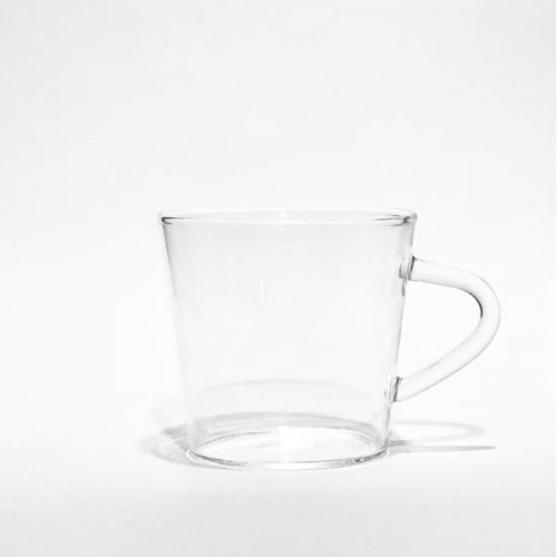 Borosilikat küçük konik kupa